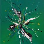 Greenerliner, 50 x 70 cm, Acryl auf Leinwand
