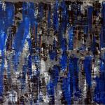 Blue Wall, 100 x 60 cm, Acryl auf Leinwand