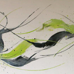 Fine Liner, 80 x 40 cm, Acryl auf Leinwand