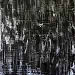 Black Wall, 60 x 80 cm, Acryl auf Leinwand - Verkauft