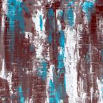 Türkis Wall, 140 x 60 cm, Acryl auf Leinwand - Verkauft
