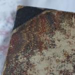 Eingebunden in sehr abgenutztes, aber immer noch wunderschönes Kamm-Marmor-Papier.