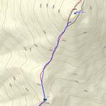 山頂直前で撤退の図