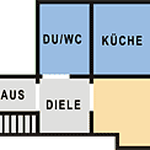 Grundriss Ferienwohnung 1 am Schneiderhof