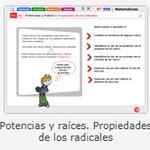Educarex. Potencias y raíces.Propiedades de los radicales.