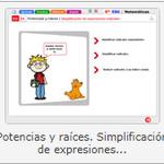Educarex. Simplificación de radicales.