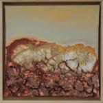 fertig gestellt 2016 - Titel: Felsige Landschaft 1 - Format 23 x 23 cm - mit Rahmen 65,00 € - Preis für 2 Bilder 120,00 €