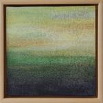 fertig gestellt 2017 - Titel: Landschaft  - Format 23 x 23 cm - mit Rahmen - Preis 60,00 €