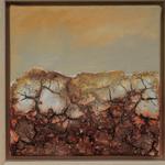 fertig gestellt 2016 - Titel: Felsige Landschaft 2 - Format 23 x 23 cm - mit Rahmen 65,00 € - Preis für 2 Bilder 120,00 €