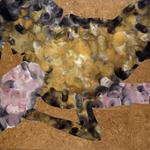 Baiser - huile sur liège - 100 x 150 cm - 1989