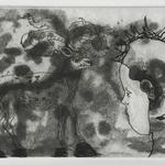 Sans titre - pointe sèche, eau forte, aquatinte et brunissoir - 12,4 x 16,8 cm - 1996