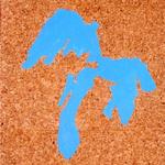Paysages (Grands lacs) - huile sur liège - 80,5 x 66,5 cm - 1986 (remake 2001) - Musée d'art moderne et contemporain, Strasbourg