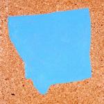 Paysages (Montana) - huile sur liège - 80,5 x 66,5 cm - 1986 (remake 2001) - Musée d'art moderne et contemporain, Strasbourg