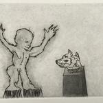 Sans titre - pointe sèche, eau forte, aquatinte et burin - 12,4 x 16,8 cm - 1996