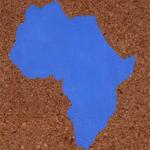 Paysages (Afrique) - huile sur liège - 80,5 x 66,5 cm - 1986 (remake 2001) - Musée d'art moderne et contemporain, Strasbourg