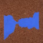 Paysages (Détroit de Gibraltar) - huile sur liège - 80,5 x 66,5 cm - 1986 (remake 2001) - Musée d'art moderne et contemporain, Strasbourg