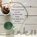 Time to C'ink - Citation - Ralentir - Annie Ernaux