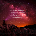 Time to C'ink - Citation - Rêver - Carlos Ruiz Zafon