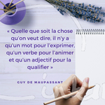 Time to C'ink - Citation - Ecrire - Guy de Maupassant