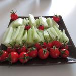 Tomates cerises, concombre