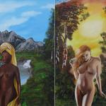 """""""Jahreszeiten Zyklus"""" Öl auf Leinwand - © Copyright by Eddie"""