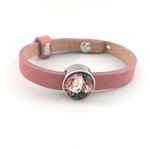 Altrosa Armband mit Schiebeperle Blume