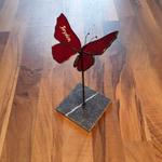 vlinder gepersonaliseerd rood