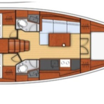 Oceanis 38.1 Yachtriss mit 3 Kabinen und 2 Nasszellen