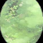 あしもとのそら ー鶸萌黄ー canvas,oil,soil 35×27cm
