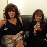 JOAN & JACKIE BACKASTAGE AT THE GRAHAM NORTON SHOW NEW YEAR'S EVE SPECIAL .. DECEMBER 10TH 2013