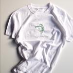 ハンド刺繍Tシャツ(ミジンコ)