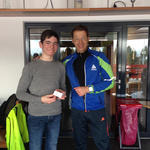 Ivo wurde am Ende unseres Trainingslagers als bester Biathlet ausgezeichnet ......
