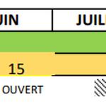 calendrier scolaire