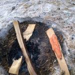 Lachs auf Buchenholz