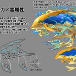 MUGENUP STATION内ファンタジーモンスターデザインラフコンテスト テーマ:雷×イルカ