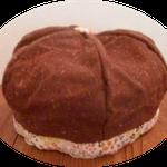 これはクリクリくりちゃん帽子と名づけたベレー帽です、かぶると普通のベレー帽より目深にかぶれ防寒としてもオススメです。
