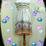 インド綿の夏らしいOPですが、重ね着すればオールシーズン着れます、ギャザートドレープが特徴です。