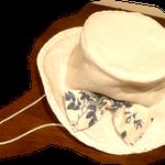 実は、テンガロンハットは紐付きのガーリィな帽子としても使えます、共布リボンも作りました、ストラップ付きで風邪がいても安心。