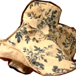 こちらが内布のバラ柄の生地の方、大胆なデザインですが色はシックなので落ち着いた感じです。