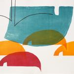 Innenort 6, 57 x 78 cm, Lithographie, 2017;  Serie von Micha Hartmann aus Esslingen