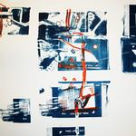 Bitte wenden sie in 40 Metern, Lithographie, 107 x 75 cm, 2014, Unikat; Micha Hartmann, Esslingen