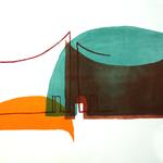 Innenort 8, 57 x 78 cm, Lithographie, 2017;  Serie von Micha Hartmann aus Esslingen