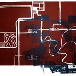 An diesm Ort 2, Linolschnitt, Litho, 56 x 78 cm, 2016, Unikat aus einer Serie; Micha Hartmann, Esslingen