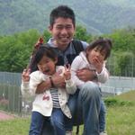 店主と長女4歳次女2歳