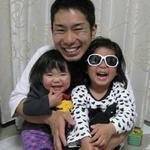 店主と長女3歳次女1歳