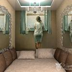Необычная спальня в нише в стиле арт деко, автор проекта Анастасия Корябкина, частный дизайнер интерьера