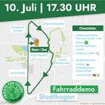Fahrraddemo Route