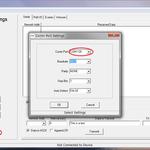 LPRDemo20を起動させて、[Connect]を選択、ポート番号を選択する