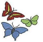 3 Schmetterlinge