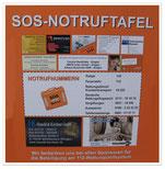 SOS-Notruftafel
